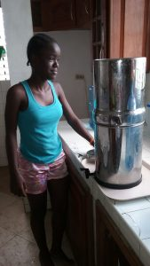 2. Chineca is in charge of the water filter process
